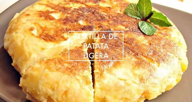 Tortilla de patata ligera
