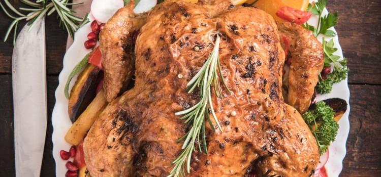 Pollo con cítricos y chutney de uvas